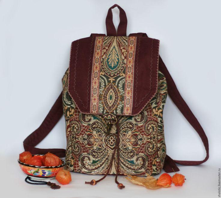 """Купить Гобеленовый рюкзак """"Восточные узоры"""" - рюкзак, рюкзачок, сумка-рюкзак, летний рюкзак"""