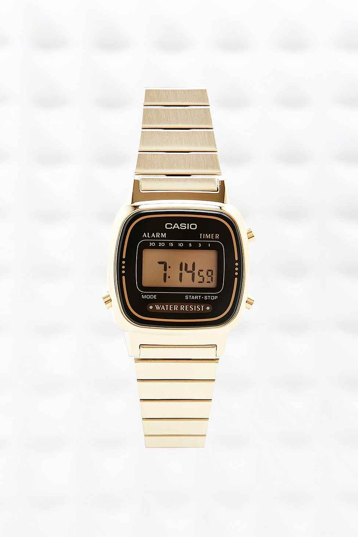 Casio Black Face Watch - Urban Outfitters