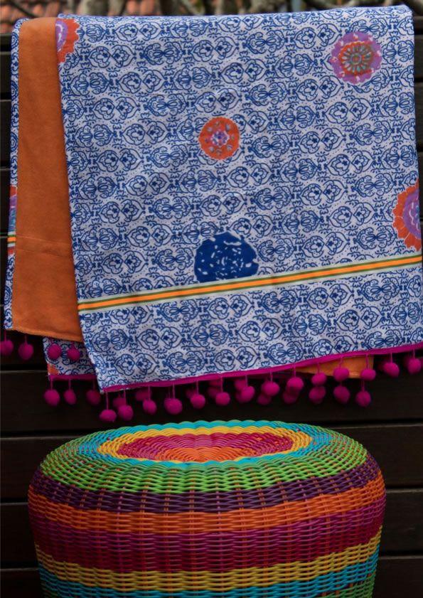 Beach towel batik medallion dazzling