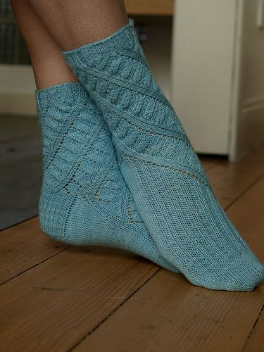 Elegant spring socks, look good in a silky bamboo or cotton