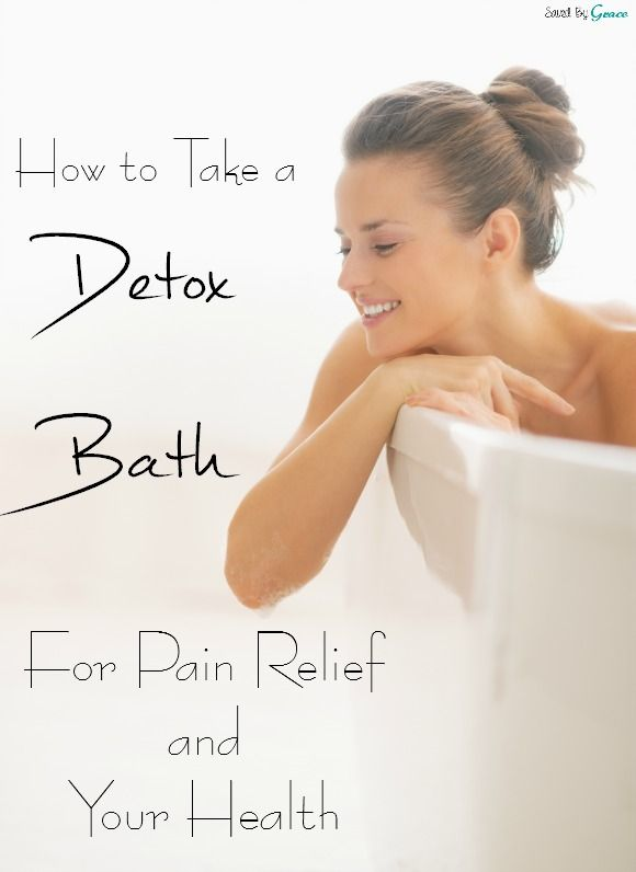 how to take a detox bath for #chronicpain or any kind of pain. This is all-natural and feels amazing!