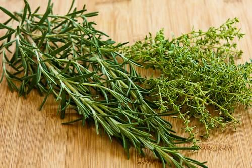 Kalyn's Kitchen: How to Freeze Fresh Herbs: Rosemary and Thyme.  I am trying this with my rosemary this year. Hoping it is closer to fresh than when I dry it.