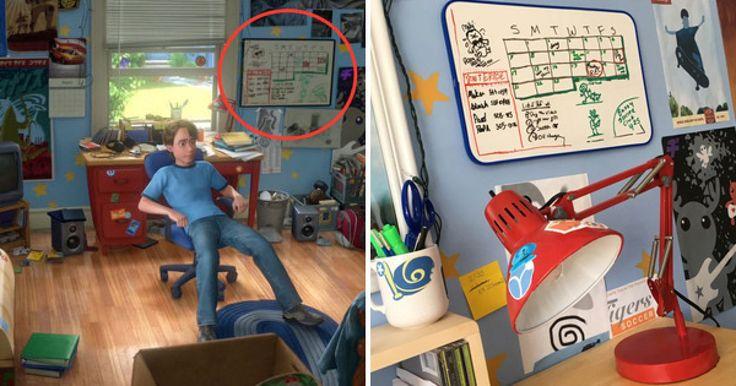 """Un par de cineastas de nombre Mason y Morgan McGrew, quienes son fanáticos de las películas de """"Toy Story"""", se dieron a la tarea de realizar una réplica exacta de uno de los lugares más icónicos en donde suceden parte de las aventuras de los personajes principales de esta amada trilogía: el cuarto de Andy. La decoración que realizan hace tributo a la habitación tal cual aparece en la última cinta de la trilogía, y les tomó cerca de dos años y unos miles de dólares recrear los detalles a la…"""