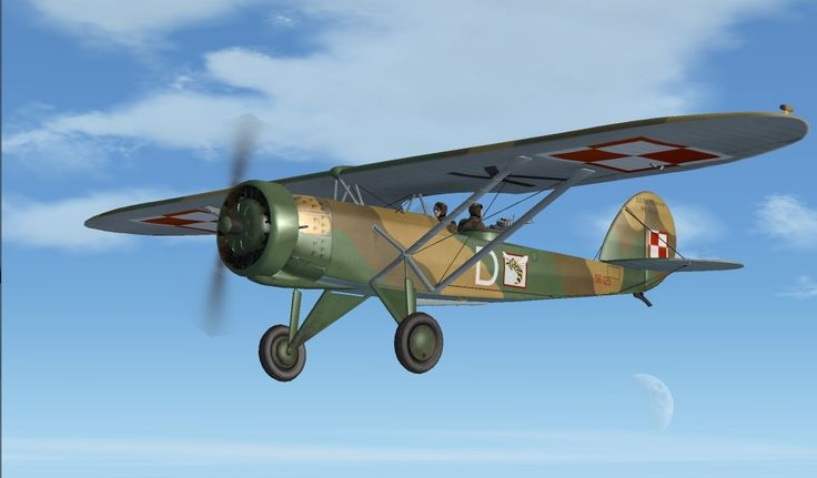 Polish R-XIII observation and liaison plane. It had 1 x Wright Whirlwind J-5 9-cylinder radial engine with 220 hp. Max speed was 187 km/h. Range 600 km. Service ceiling was 4 300 m with rate of climb 4,12 m/s.