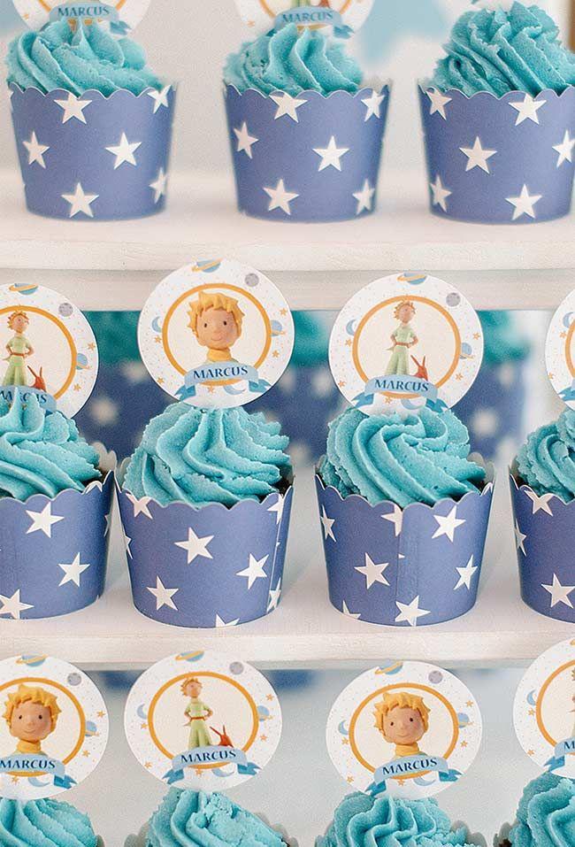 Cupcakes Azul Como O Ceu Festa Pequeno Principe Pinterest Cupcakes