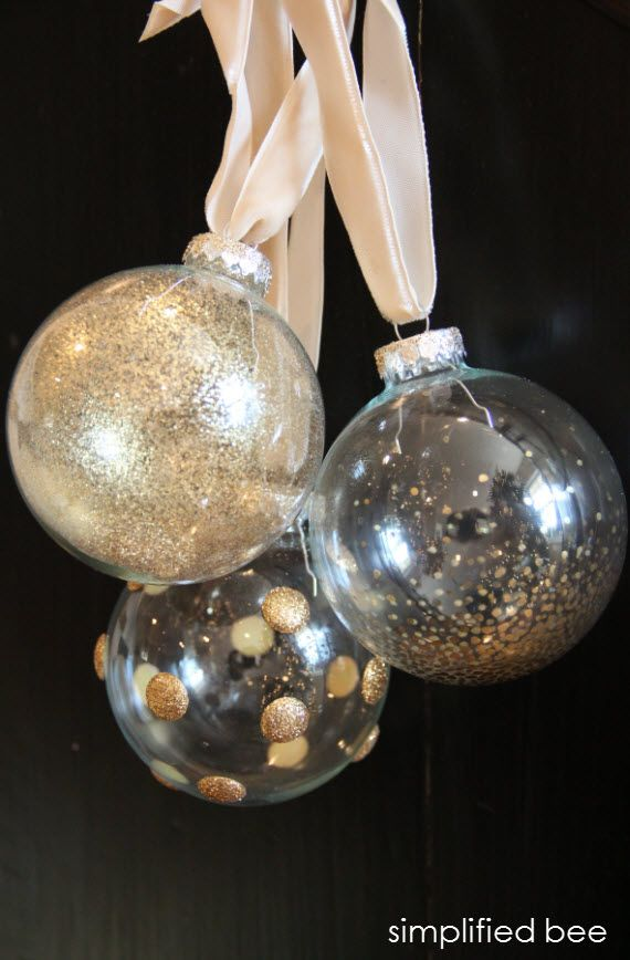 120 best diy glass ornaments images on pinterest for Glass christmas balls crafts