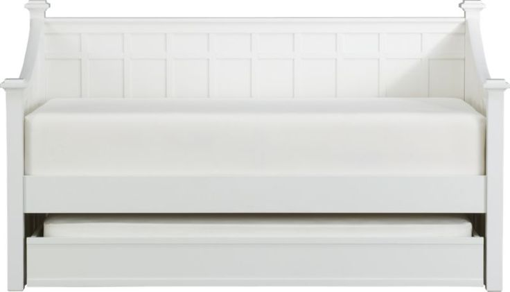 Maybe?  Brighton White Daybed with Trundle in Beds   Crate and Barrel