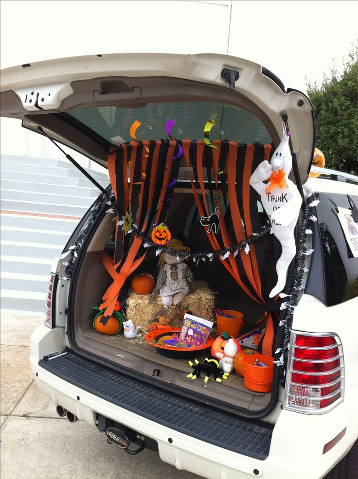 trunk or treat decorating ideas trunk or treat