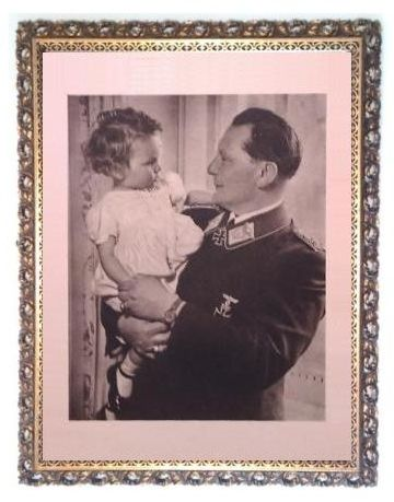 LUFTWAFFE REICHSMARSCHALL HERMANN GORING GOERING WITH DAUGHTER - LARGE PHOTO POSTER - PUBLISHER ZENTRALVERLAG DER NSDAP FRANZ EHER NACHFOLGER GmbH MÜNCHEN - FRAME IS NOT FOR SALE -  POSTER DIMENSIONS - 34.6 x 29.2 INCH / 88 x 74 CM – PRICE $2499