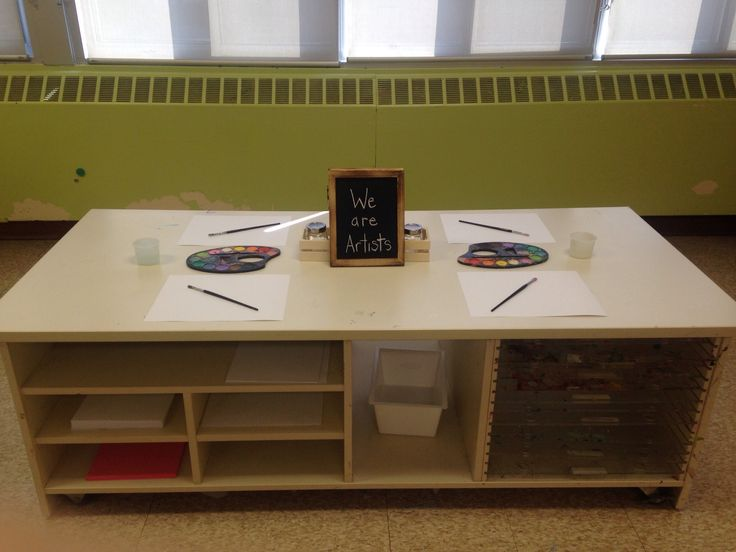 Art table with simple materials out