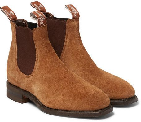 $490, Roland Mouret Rm Williams Suede Chelsea Boots. Sold by MR PORTER. Click for more info: https://lookastic.com/men/shop_items/294875/redirect