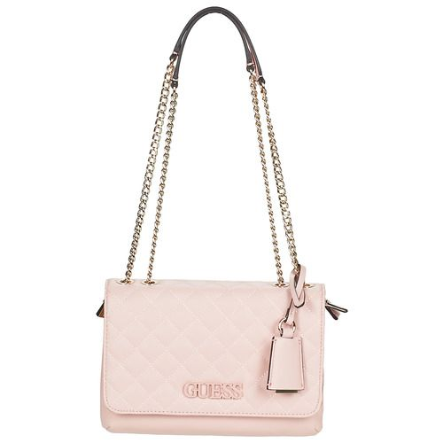 Guess Pink Coral Chains Shoulder Bag