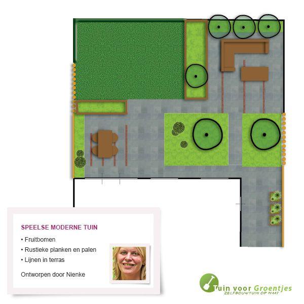 Speelse moderne tuin, getekend door onze tuinontwerper Nienke Plantinga.