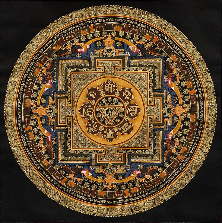 OM (AUM) Yoni Mandala with the Syllable Mantra