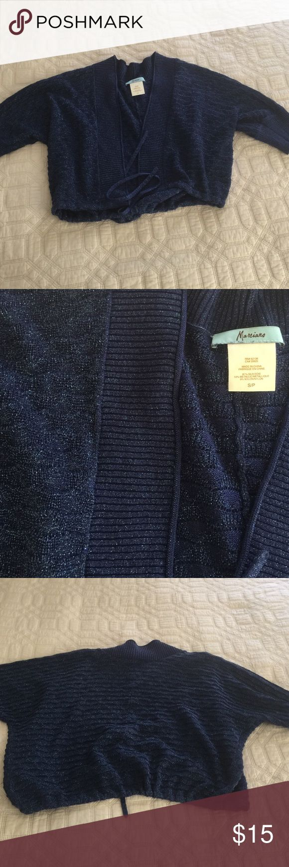 Guess by Marciano blue jacket cardigan Worn twice. I have had a ridiculous amount of compliments on this jacket. Like new condition Guess by Marciano Sweaters Cardigans