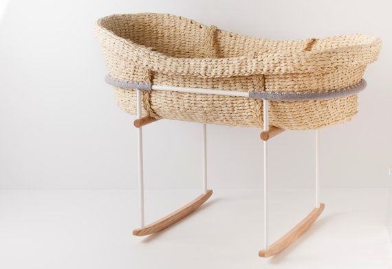 The Vos Kho rocker, paired with the Nature Baby Moses basket, comes courtesy of Adelaide designer James Howe. Constructed from European ash timber and white, powder-coated steel, the rocker is as sturdy and safe as it is beautiful. Featuring natural grey felt made from 100 per cent pure wool, the rocker and basket are designed to be cosy and nest-like, providing a comfortable, secure sleeping environment. The gentle rocking motion happens naturally when the baby moves, helping to lull him…