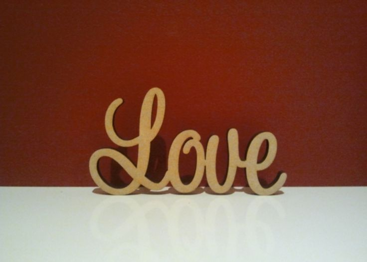 Decoroo Australia, custom made wooden words, names, letters and signs. - 7cm tall Freestanding wooden word  Love, $5.70 (http://www.decoroo.com.au/7cm-tall-freestanding-wooden-word-love/)