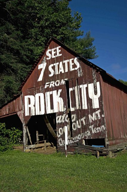 """""""See Rock City"""" in Chattanooga, TN - these used to be everywhere out in the countryside of north Alabama and the area. (You really should see it!)"""