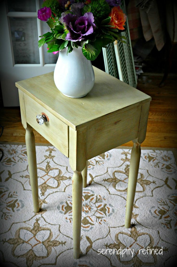 chalk painted furniture | Painted+furniture+table+chalk+paint+dark+wax+Versailles+Annie+Sloan+2 ...