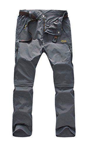 Geval Men's Windproof Quick Drying Outdoor Pants(Dark Grey,2XL) Geval Sports