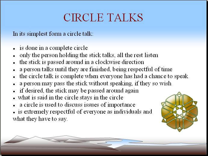 Traditional Talking Circle