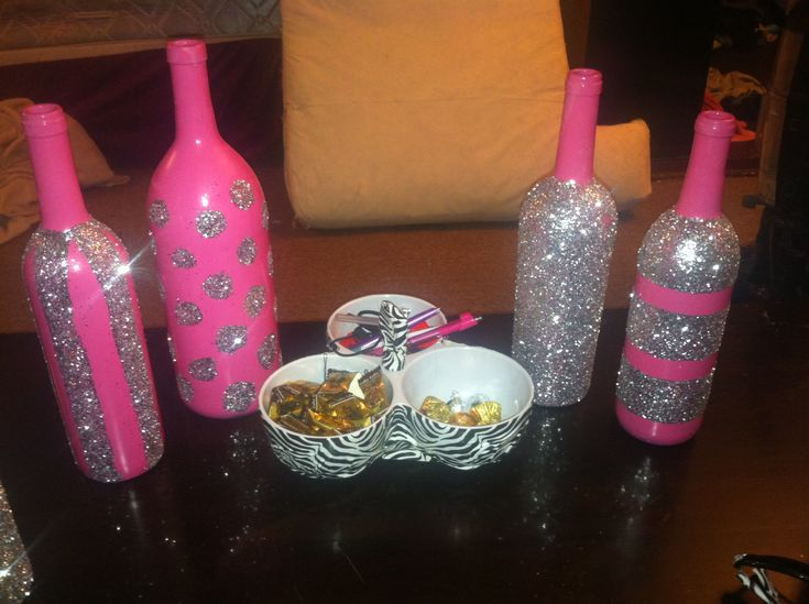 25 b sta decorated wine bottles id erna p pinterest for Decorating wine bottles with glitter