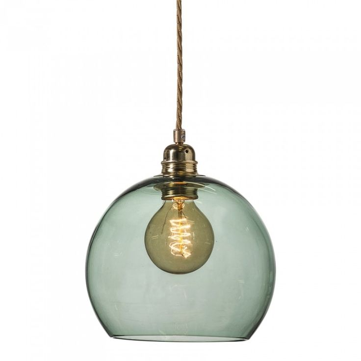 Taklampa i glas Forest Green, Ebb & Flow - Belysning   SPITI - Skön inredning - Marockansk orientalisk indisk fransk provence