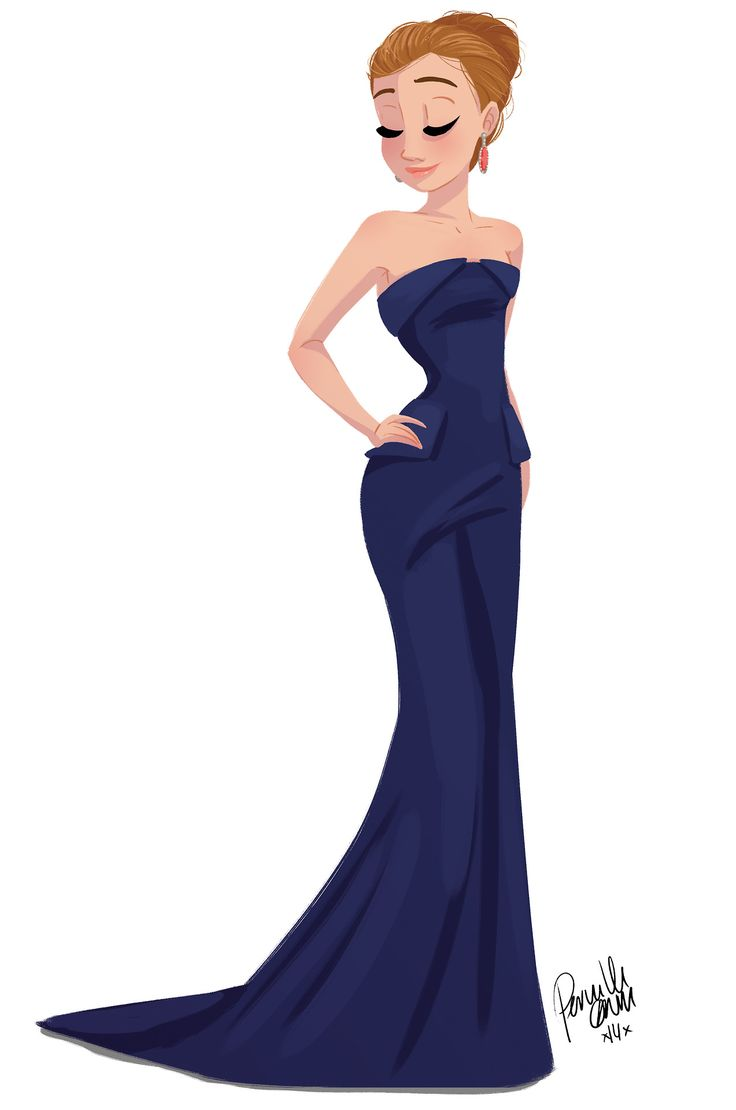 Girl, Elegant Dress #illustration / Ragazza, vestito elegante #illustrazione -Art by Pernille