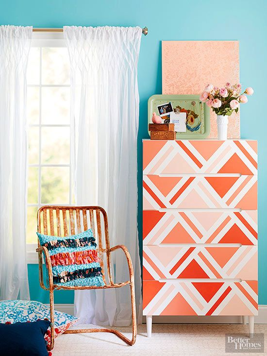 This list of ideas to makeover your dresser includes creative uses of paint, stenciling and chalk paint to make the old new again! These cheap DIY ideas can easily be done in a weekend so you can have a refreshed bedroom in no time!