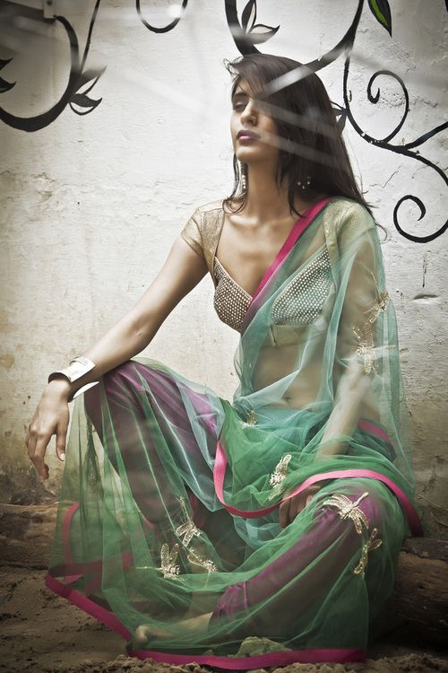 Chic Saree by Anjali Sharma's French Curve  https://www.facebook.com/pages/French-Curve/217079761648227