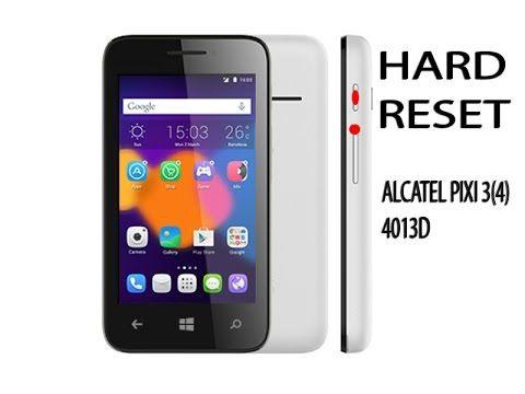 HARD RESET ALCATEL PIXI 3 4013d сброс паролей чистка памяти
