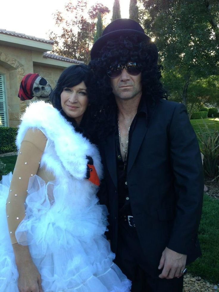 Halloween Costumes. Guess Who??? Steffi Graf & Andre Agassi as Bjork &