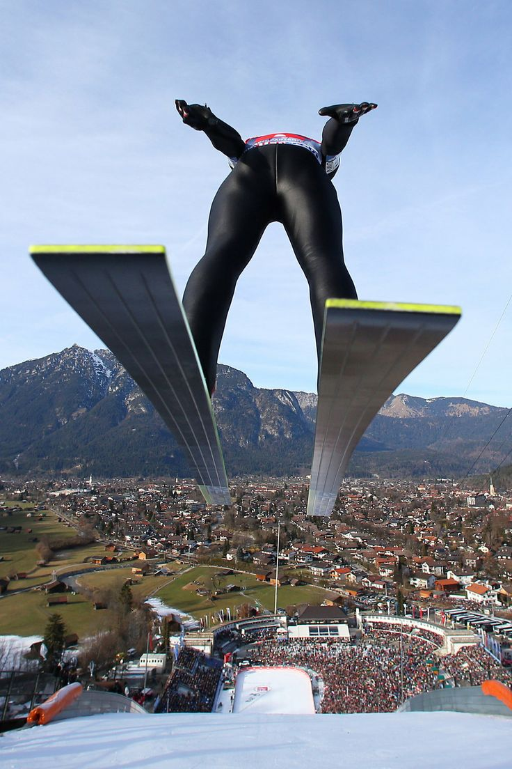 Jump. Thomas Morgenstern competing in the Four Hills Tournament. http://win.gs/KaqFqh Image: © GEPA pictures/Red Bull Content Pool #ski #skijump