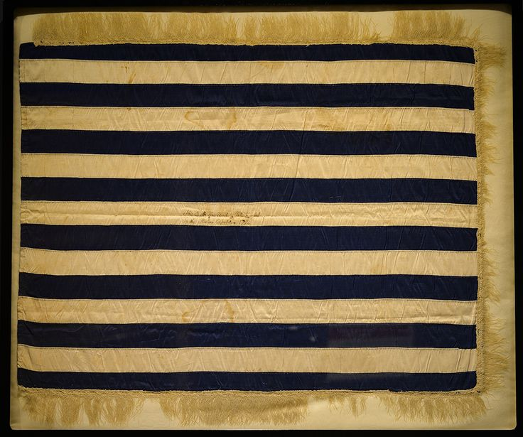 The flag of a militiaman at the heart of the Whiskey Rebellion