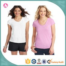 Professional women casual plain blank custom soft cotton summer short sleeve tshirt  best buy follow this link http://shopingayo.space