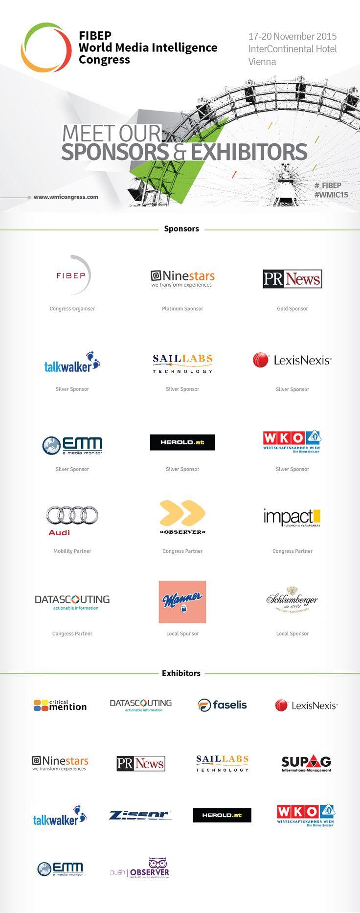 Meet #_FIBEP #WMIC15 #Vienna Sponsors, Exhibitors, Local Sponsors, Congress Partners.
