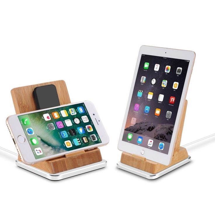 #Bamboo #Charge #Stand with #Aluminum #Base, #iPhone #Charging #Dock, iPhone #Charger