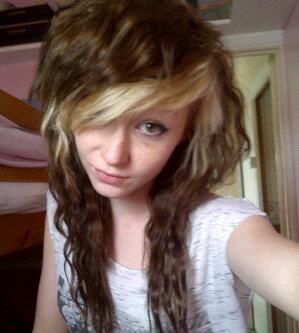 Brown Hair With Blonde Fringe 45