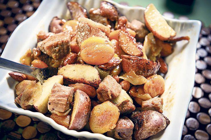 Sauté de veau à la Barbar et aux abricots. Quand #automne rime avec #mijoté