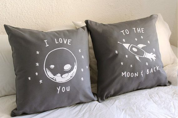 I love you to the moon and back His and Hers by ZanaProducts $54 | want!!