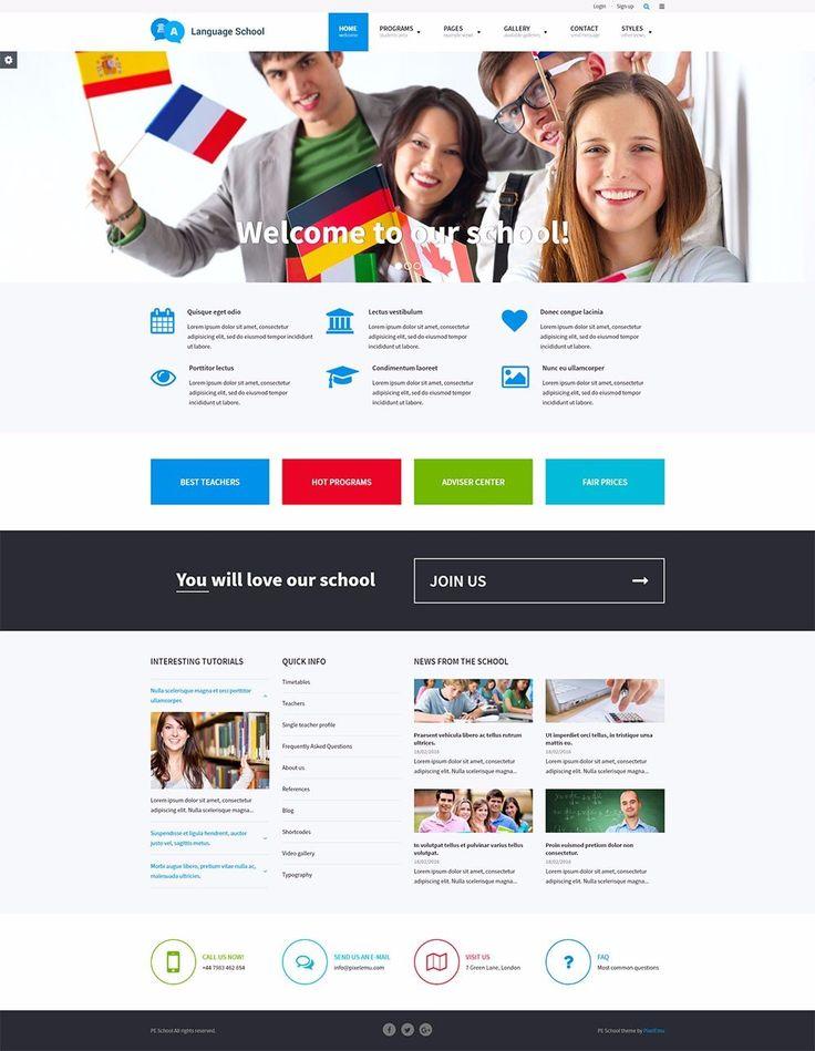 PE School - Universal education WordPress theme with handy solution to display school activities and teachers.   #WordPress #theme #school https://www.pixelemu.com/wordpress-themes/i/11-school