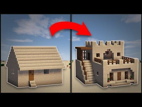 Minecraft: How To Remodel A Desert Village Large House - Minecraft Servers View