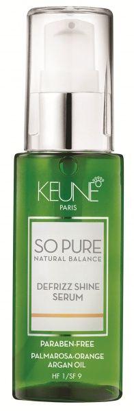 Par drept, fara fire rebele si stralucind de sanatate?  Avem solutia: So Pure Defrizz Shine Serum - o adevarata magie intr-o sticluta.  Nu contine parabeni, are o formula bazata pe ingrediente naturale de agricultura bio, fara parfum sau coloranti artificiali.  Parul tau il va iubi de la prima aplicare! http://www.keune.md/index.php?pag=cproduct&cid=579&crid=280&l=ro