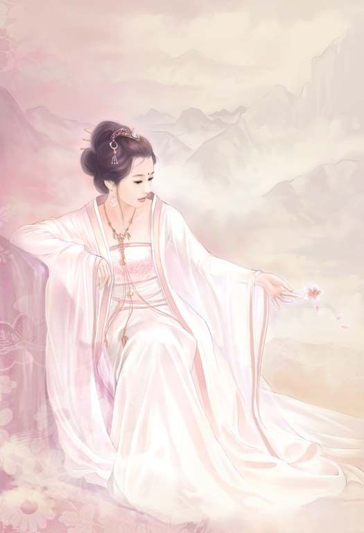 Chinese girl of Tang Dynasty.