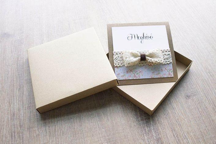 flocked wedding invitation, wedding invitation with lace, rustic wedding invitation