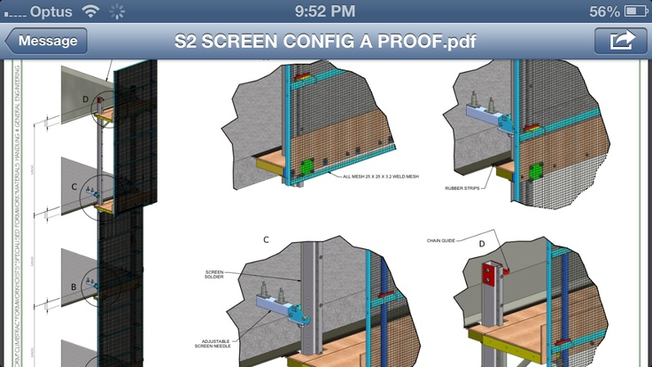 3D safety screens