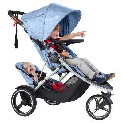 phil&teds Dash Inline Stroller, Blue Marl