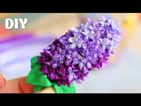 Как сделать Сирень из Лент / Lilac of ribbons Tutorial ✿ NataliDoma - YouTube