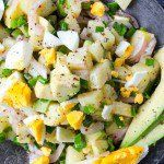 Avocado and Egg Potato Salad