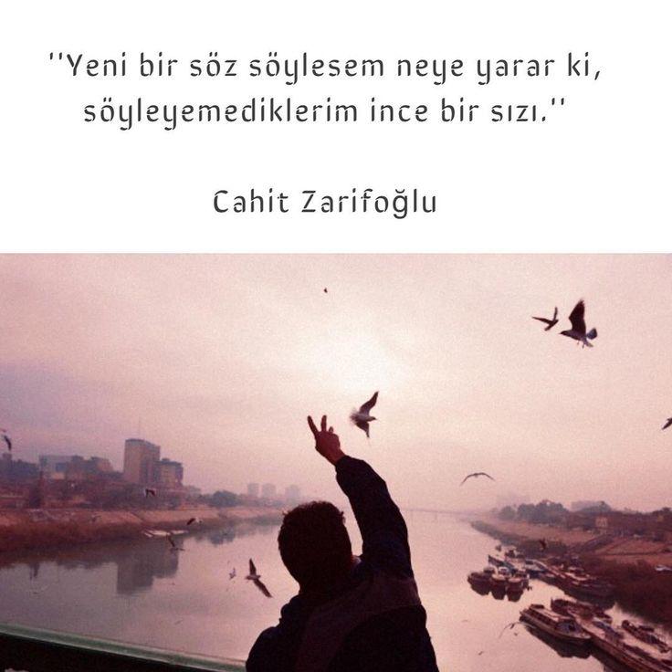 Yeni bir söz söylesem neye yarar ki, söyleyemediklerim ince bir sızı.   - Cahit Zarifoğlu  (Kaynak: Instagram - neokumali)  #sözler #anlamlısözler #güzelsözler #manalısözler #özlüsözler #alıntı #alıntılar #alıntıdır #alıntısözler #şiir #edebiyat